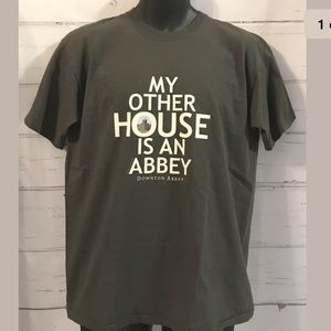 Downtown Abbey Premium Cotton Gray Graphic Tshirt